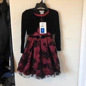 Jona Michelle Girl Red Dress Size 7
